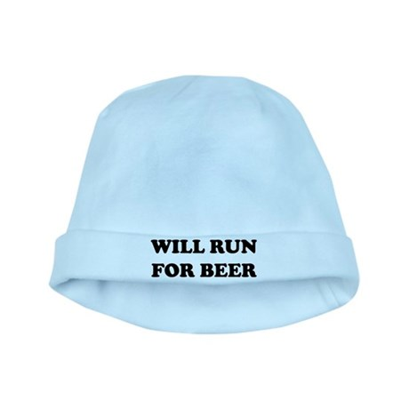 Will Run For Beer baby hat