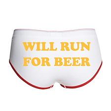 Will Run For Beer Women's Boy Brief