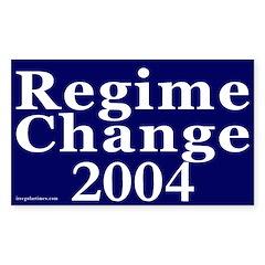 Regime Change 2004 Car Decal