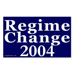 Regime Change 2004 Car Decal