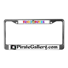 """""""THE PIRATE GALLERY"""" License Plate Frame"""