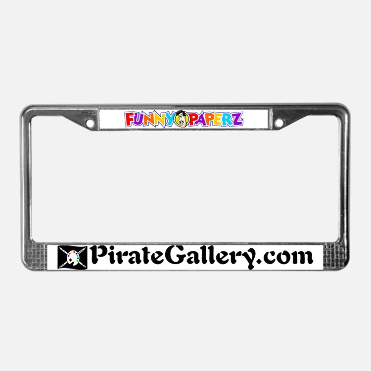 """THE PIRATE GALLERY"" License Plate Frame"
