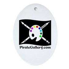 """""""THE PIRATE GALLERY"""" Ornament (Oval)"""