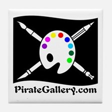 """THE PIRATE GALLERY"" Tile Coaster"