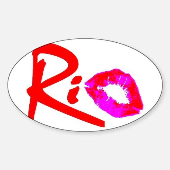 """""""RIO"""" Sticker (Oval)"""
