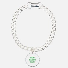 Run Daddy Run Charm Bracelet, One Charm