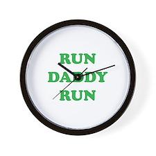Run Daddy Run Wall Clock