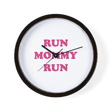 Run Mommy Run Wall Clock