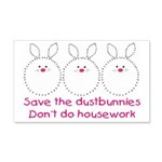 Save the dustbunnies 20x12 Wall Decal