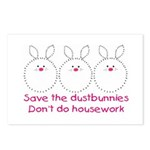 Save the dustbunnies Postcards (pk of 8)