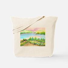 Keuka Lake Watercolor Tote Bag