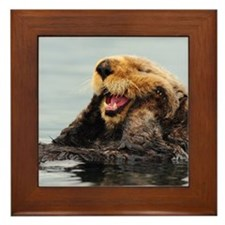 Alaskan Sea Otter Framed Tile