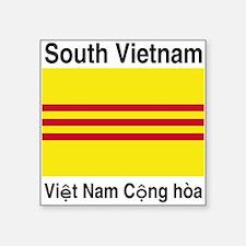 "South-Vietnam Square Sticker 3"" x 3"""