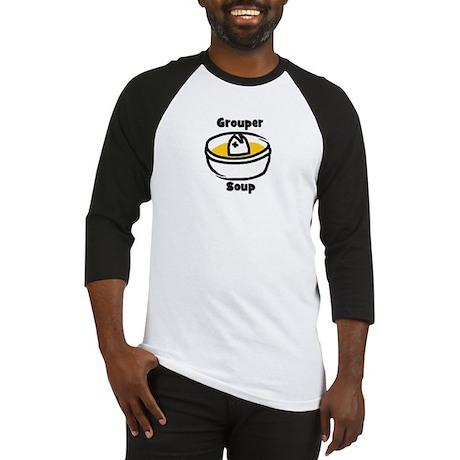 GrouperSoup Cartoon Bowl Baseball Jersey