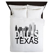Dallas Skyline Queen Duvet