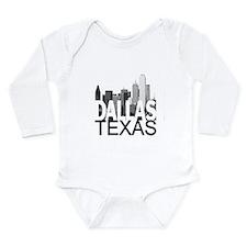 Dallas Skyline Long Sleeve Infant Bodysuit