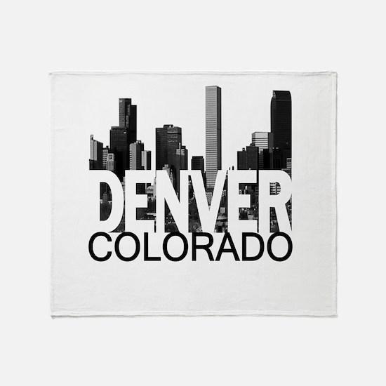 Denver Skyline Throw Blanket
