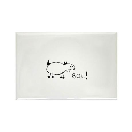 BOL (Barking Out Loud) Cartoon Dog Rectangle Magne