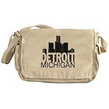 Detroit Skyline Messenger Bag