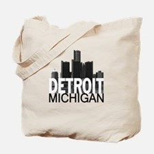 Detroit Skyline Tote Bag