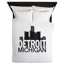 Detroit Skyline Queen Duvet
