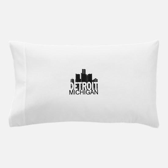 Detroit Skyline Pillow Case