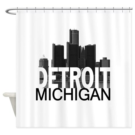 Detroit Skyline Shower Curtain