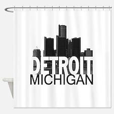 Detroit Skyline Shower Curtain