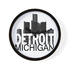 Detroit Skyline Wall Clock