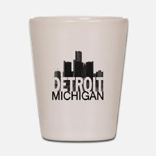 Detroit Skyline Shot Glass