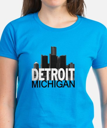 Detroit Skyline Women's Dark T-Shirt