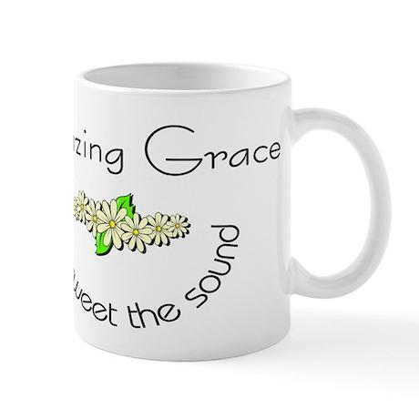 Amazing grace with flowers Mug