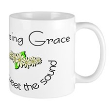 Amazing grace with flowers Small Mug