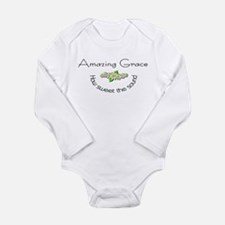 Amazing grace with flowers Long Sleeve Infant Body
