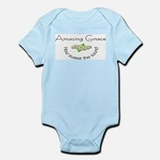 Amazing grace with flowers Infant Bodysuit