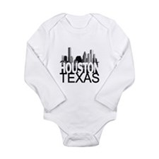 Houston Skyline Long Sleeve Infant Bodysuit