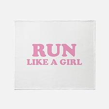 Run Like A Girl Throw Blanket
