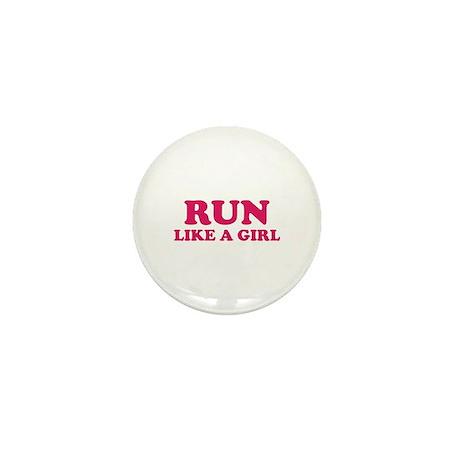Run Like A Girl Mini Button (10 pack)