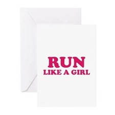 Run Like A Girl Greeting Cards (Pk of 20)
