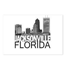 Jacksonville Skyline Postcards (Package of 8)