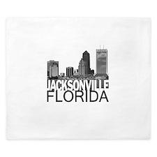 Jacksonville Skyline King Duvet
