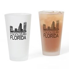 Jacksonville Skyline Drinking Glass
