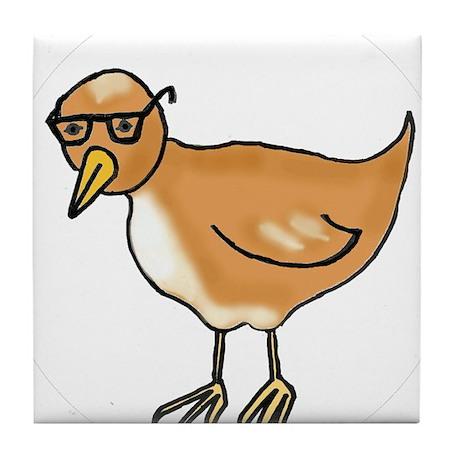 One hip bird Tile Coaster