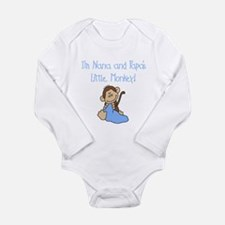 Nana, Papa's Monkey (blue) Long Sleeve Infant Body