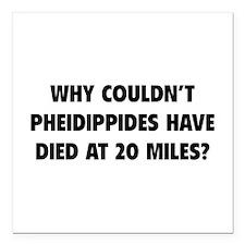 """Pheidippides Miles Square Car Magnet 3"""" x 3"""""""