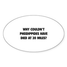 Pheidippides Miles Decal