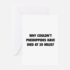 Pheidippides Miles Greeting Cards (Pk of 10)