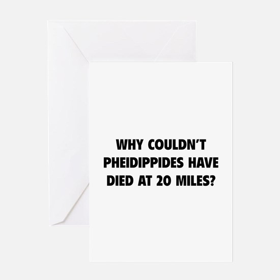 Pheidippides Miles Greeting Card