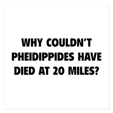 Pheidippides Miles 5.25 x 5.25 Flat Cards