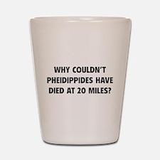Pheidippides Miles Shot Glass